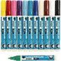 Glas- & Porseleinstiften, diverse kleuren, lijndikte 2-4 mm, dekkend, 12 stuk/ 1 doos