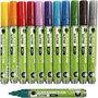 Glas- & Porseleinstiften, diverse kleuren, lijndikte 2-4 mm, semi-dekkend, 12 stuk/ 1 doos