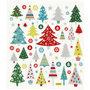 Fancy glitter stickers, vel 15x16,5 cm, circa 63 stuk, kerstboom, 1vel