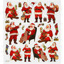 Stickers, vel 15x16,5 cm, , kerstman, 1vel