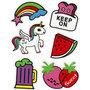 Soft Stickers , Keep on, 12,2x17,75 cm, 1 vel