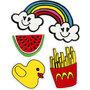 Soft Stickers , Summer Fun, 12,2x17,75 cm, 1 vel