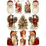 Vintage plaatjes, vel 16,5x23,5 cm, , Kerst, 3vellen