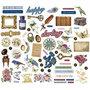 Labels, vintage, afm 10-90 mm, 120 gr, 138 stuk/ 1 doos
