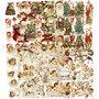 Vintage plaatjes, vel 16,5x23,5 cm, Kerst, 30div vellen