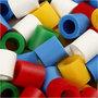 Strijkkralen, standaardkleuren, afm 10x10 mm, gatgrootte 5,5 mm, JUMBO, 2450 div/ 1 doos