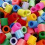 Strijkkralen, extra kleuren, afm 10x10 mm, gatgrootte 5,5 mm, JUMBO, 550 div/ 1 doos