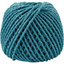Papier garen, turquoise, dikte 2,5-3 mm, 40 m/ 1 bol, 150 gr