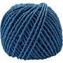 Papier garen, donkerblauw, dikte 2,5-3 mm, 40 m/ 1 bol, 150 gr