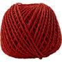 Papier garen, rood, dikte 2,5-3 mm, 40 m/ 1 bol, 150 gr
