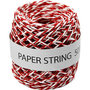 Papierkoord, rood/wit, dikte 1 mm, 50 m/ 1 rol