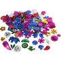 Pailletten, sterke kleuren, afm 15-45 mm, 400 gr/ 1 doos