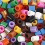 Strijkkralen met open zijkant, standaardkleuren, afm 5x5 mm, gatgrootte 2,5 mm, medium, 1100 div/ 1 doos