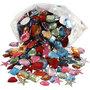Strasstenen, diverse kleuren, afm 15-17 mm, 210 gr/ 1 doos