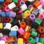 Strijkkralen met open zijkant, standaardkleuren, afm 5x5 mm, gatgrootte 2,5 mm, medium, 6000 div/ 1 doos