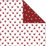 Design Papier, harten & ijskristallen, 30,5x30,5 cm, 180 gr, 3 vel/ 1 doos