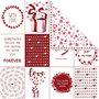Design papier, vel 30,5x30,5 cm,  180 gr, , love & harten, 5vellen