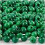 Houten kralen, groen, d: 5 mm, gatgrootte 1,5 mm, 6 gr/ 1 doos, 150 stuk