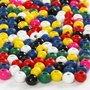 Houten kralen, diverse kleuren, d: 4 mm, gatgrootte 1,5 mm, 6 gr/ 1 doos