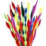 Chenilledraad, diverse kleuren, gegolfd, L: 30 cm, dikte 5-12 mm, 28 div/ 1 doos