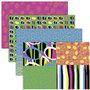 Decoupage papier, vrolijke kleuren, 25x35 cm, 17 gr, 4x2 vel/ 1 doos