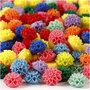 Bloemkralen, diverse kleuren, afm 15x8 mm, gatgrootte 1,5 mm, 10x25 stuk/ 1 doos, 300 ml