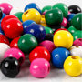 Houten kralen, diverse kleuren, d: 10 mm, gatgrootte 3 mm, 230 gr/ 1 doos