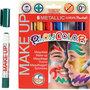 Playcolor Make up, diverse kleuren, metallic, 6x5 gr/ 1 doos