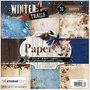Design papierblok, afm 15x15 cm,  170 gr, Winter Trails, 36vellen