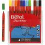 Berol stift, diverse kleuren, d: 10 mm, lijndikte 1-1,7 mm, 12 stuk/ 1 doos