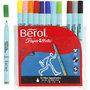 Berol Colourfine, diverse kleuren, d: 10 mm, lijndikte 0,3-0,7 mm, 12 stuk/ 1 doos