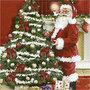 Servetten, afm 33x33 cm, , nostalgische Kerst, 20stuks