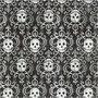 Servetten, schedels, afm 33x33 cm, 20 stuk/ 1 doos