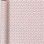 Inpakpapier, rood, wit, trompet, B: 70 cm, 80 gr, 4 m/ 1 rol