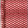 Cadeaupapier, b: 57 cm,  80 gr, wit, rood, trommel, 150m