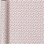 Inpakpapier, rood, wit, trompet, B: 57 cm, 80 gr, 150 m/ 1 rol