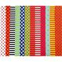 Glanspapier, diverse kleuren, patroon, 32x48 cm, 80 gr, 100 div vellen/ 1 doos