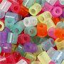 Strijkkralen, glitterkleuren, afm 5x5 mm, gatgrootte 2,5 mm, medium, 30000 div/ 1 doos