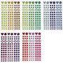 Mozaiek stickers, diverse kleuren, d: 8-14 mm, 11x16,5 cm, 10 vel/ 1 doos