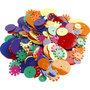 Pailletten, diverse kleuren, rond, afm 10-25 mm, 250 gr/ 1 doos
