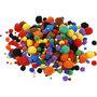 Pom-Poms, diverse kleuren, d: 5-40 mm, 42 gr/ 1 doos