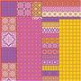 Decoupage papier, vel 25x35 cm,  17 gr, , roze harmonie, 80div vellen