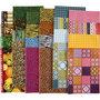 Decoupage papier - Assortiment, 25x35 cm, Inhoud kan variëren , 17 gr, 400 div vellen/ 1 doos