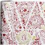 Inpakpapier, goud, rood, wit, kerstbomen, B: 50 cm, 80 gr, 100 m/ 1 rol