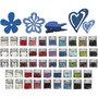 Houten decoraties, diverse kleuren, Inhoud kan variëren , 50 doos/ 1 doos