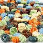 Keramiek kralen, afm 7x15 mm, gatgrootte 2 mm, diverse kleuren, 224stuks