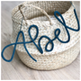 Naamhanger - Handmade - Wol - Decoratief - max 4 letters