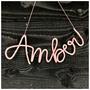 Naamhanger - Handmade - Wol - Decoratief - 5 of meer letters