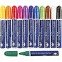 Glas- & Porseleinstiften, lijndikte: 5 mm, diverse kleuren, semi-dekkend, 12stuks