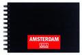 Schetsboek - Tekenboek - Met ringband - Zwart - A5 - 250 gram/m2  - Amsterdam - 1 stuk